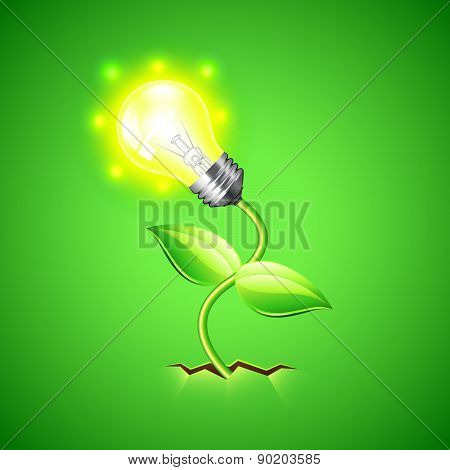 Plant-bulb Grows From The Ground Vector Background