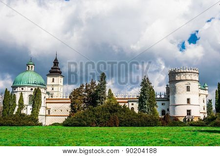 Grand Castle In Poland, Europe.