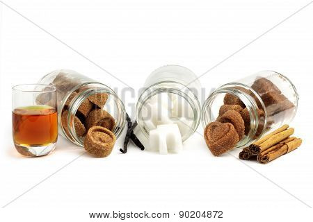 assorted sugar cubes