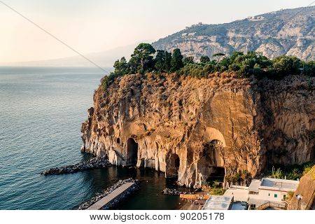 Cliffs At Marina Di Cassano, Piano Di Sorrento. Italy