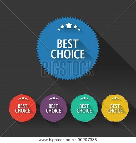 Flat Sale Discount Best Choice Labels With Long Shadows