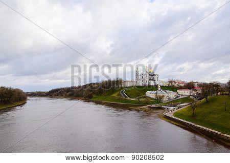 Holy Dormition Cathedral On Uspenskaya Hill Above Zapadnaya Dvina