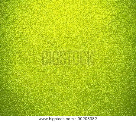 Chartreuse (traditional) color leather texture background