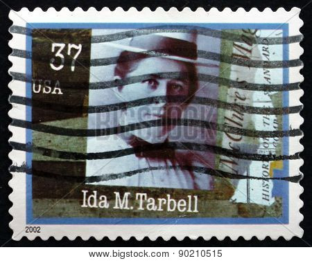 Postage Stamp Usa 2002 Ida M. Tarbell, Journalist