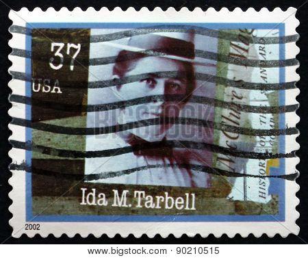 Postage Stamp Usa 2002 Ida M. Tarbell, Journalist