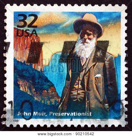 Postage Stamp Usa 1998 John Muir, Naturalist And Conservationist