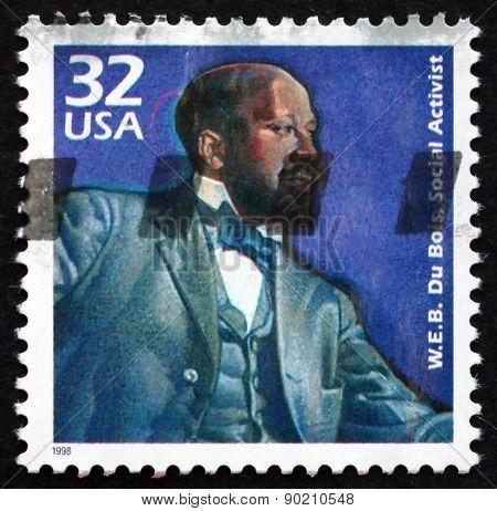 Postage Stamp Usa 1998 W. E. B. Du Bois, Social Activist
