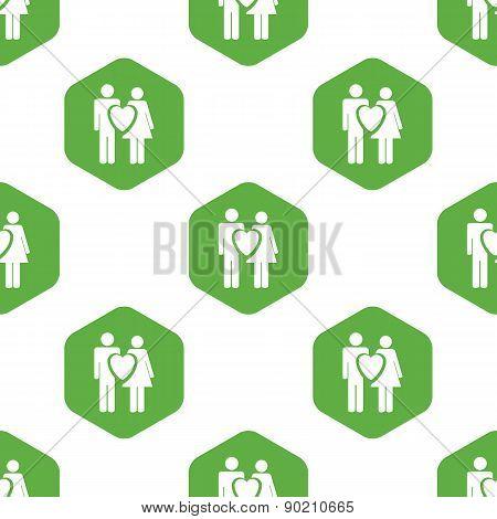 Couple in love pattern