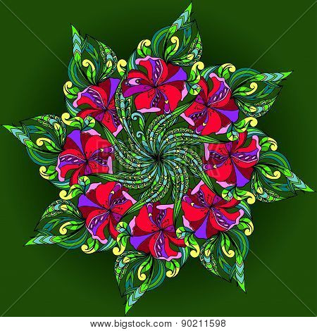 Graphics filigree ornament for design