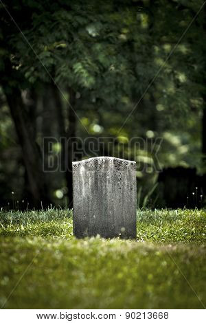 Old Tombstone In Graveyard