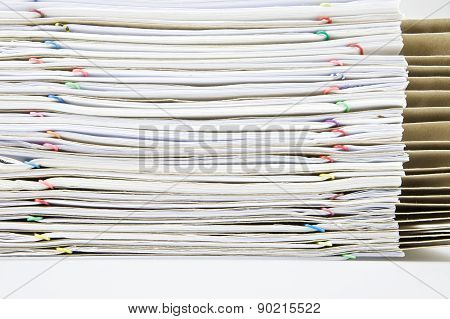 Stack Paper Report With Envelope