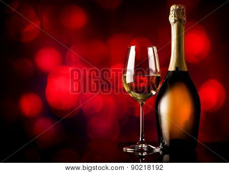 White wine on red