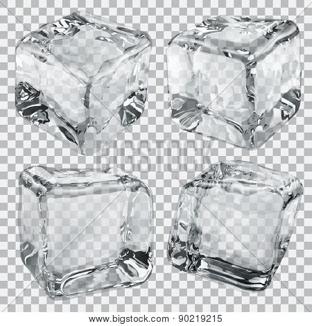 Transparent Gray Ice Cubes