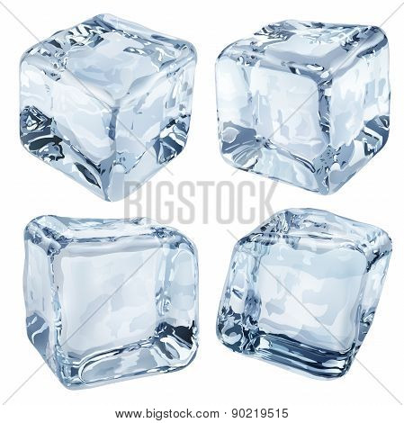 Opaque Light Blue Ice Cubes