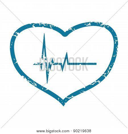 Beating heart grunge icon