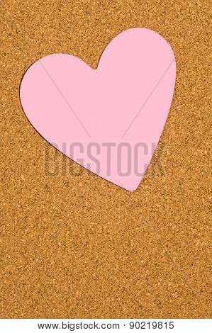 Blank Love Note On Corkboard