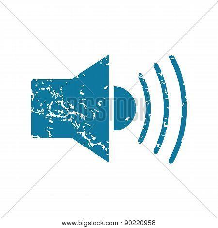 Loudspeaker grunge icon