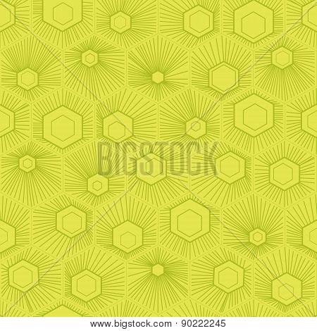 Vector Honeycomb Pattern Green