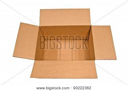 Big Opened Box Isolated On White