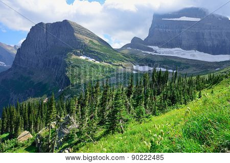 Grinnell Glacier In Glacier National Park