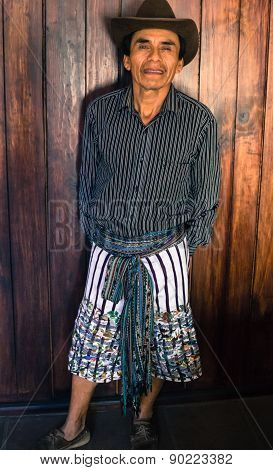 Guatemalan Mayan man in traditional dress