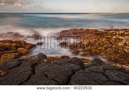 Long exposure seashore