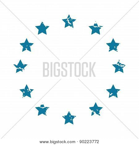 EU symbol grunge icon