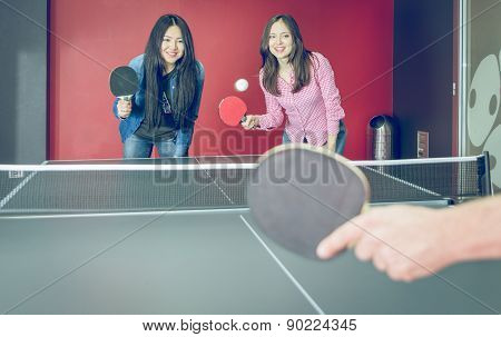 Table Tennis Match For Fun