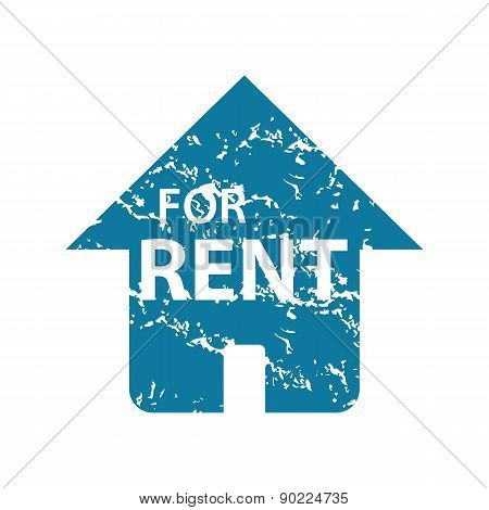 For Rent grunge icon