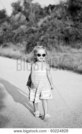 Toddler Cute Little Girl In Glasses