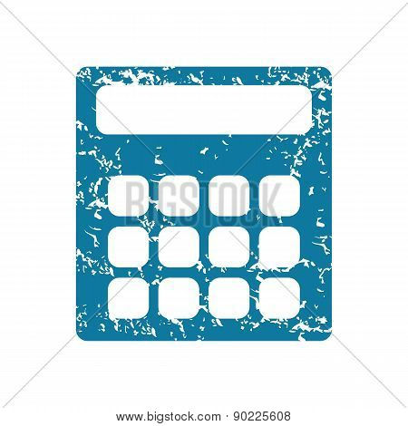 Calculator grunge icon