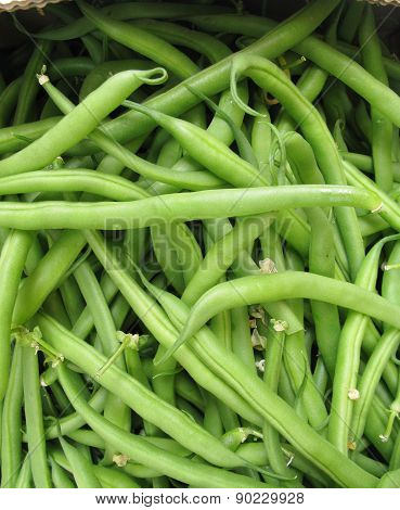 French beans at the greengrocer