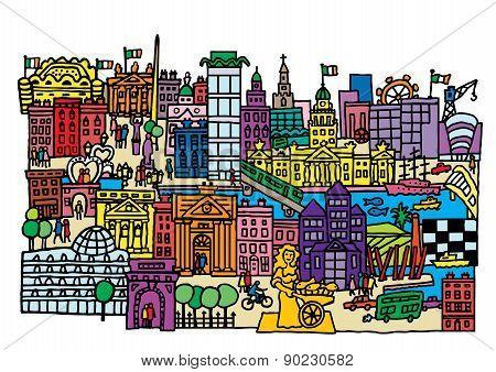 Dublin Cityscape
