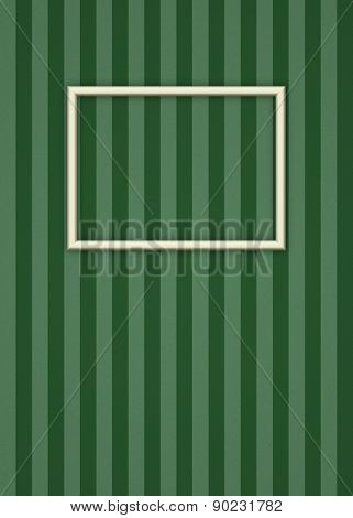 Picture Frame on Stripes