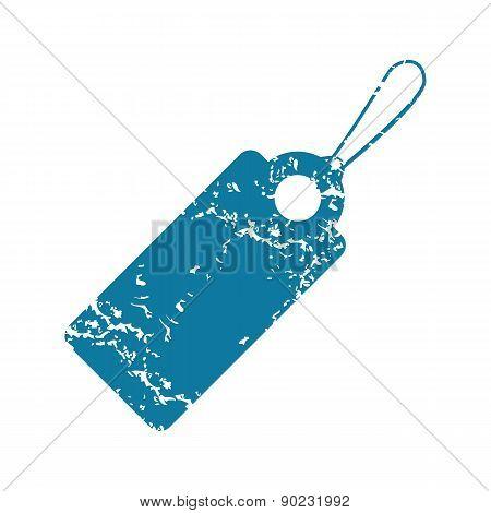 Grunge string tag icon