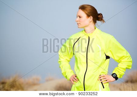 Woman In Sport Clothing Outdoors