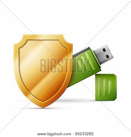 usb flash drive with shield, Data Protection