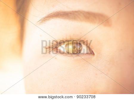 Asian Woman Eye Close Up