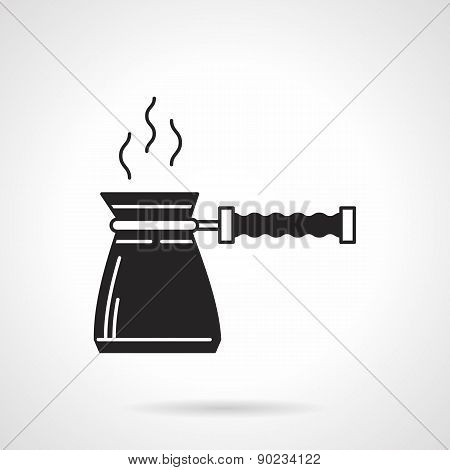 Coffee pot black vector icon