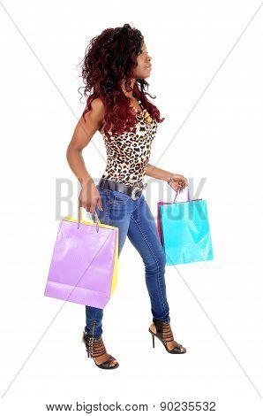 African Woman Going Shopping.