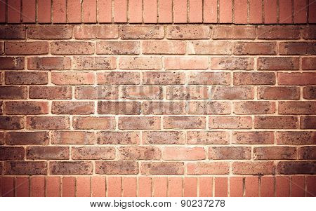 Red Brick Wall As Texture Or Background. .