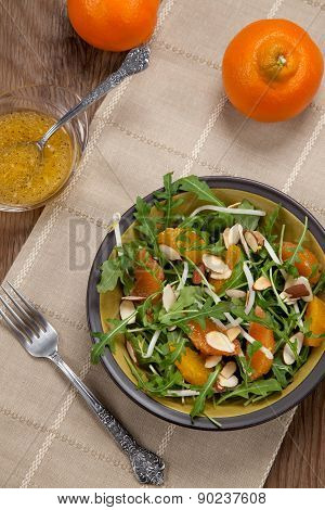 Arugula Salad With Mandarin Vinaigrette