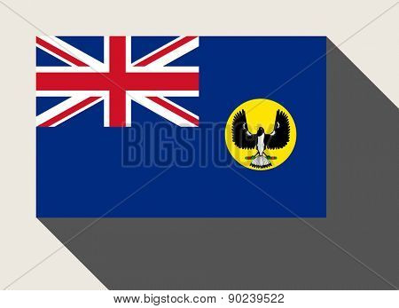 Southern Australia state flag in flat web design style.
