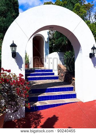 Archways to a Colorful World - Circa May 9, 2015 - Rosarito Beach, Baja, Mexico