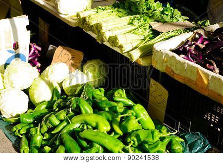 Vegetable Stand in Shanghai China