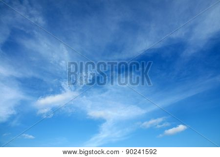 Beautiful Clouds in the blue sky at Rayong, Thailand.