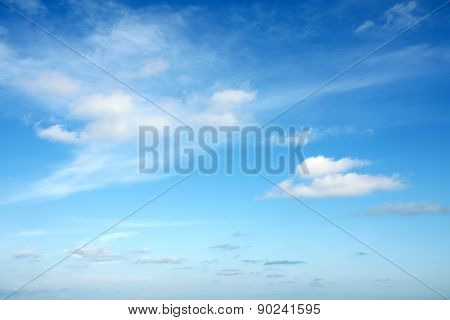 Clouds In The Blue Sky at Rayong, Thailand.