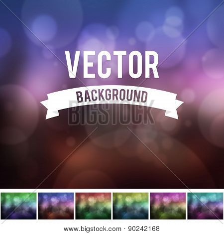 Bokeh effect with blur background collection
