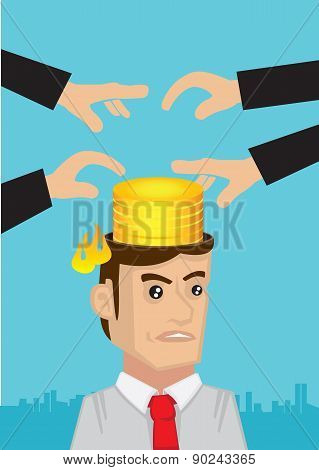 Intellectual Property Infringement Concept Vector Illustration