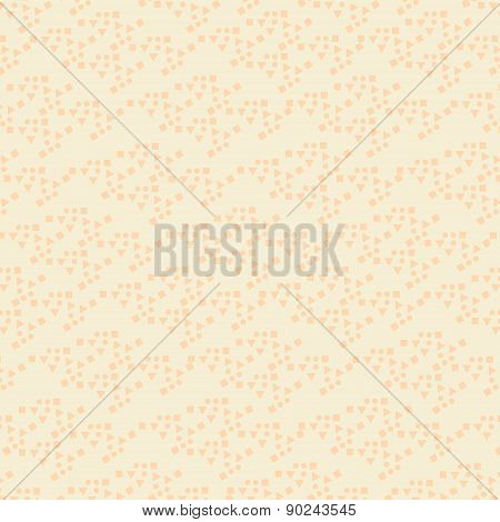 Simple Geometric Beige Monochromatic Background, Vector Illustration